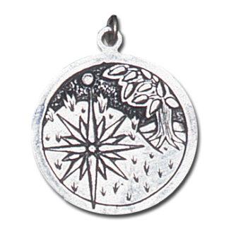 Keltische Sternzeichen versilbert