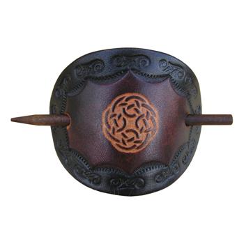 Keltische Lederhaarspangen